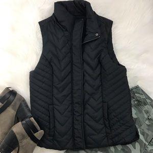 Maurice's Sleek Black Puffy Vest